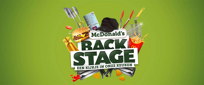 Neem een kijkje Backstage bij McDonald's