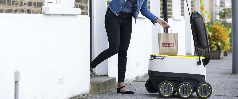 Maaltijden laten bezorgen door een robot bij Just Eat