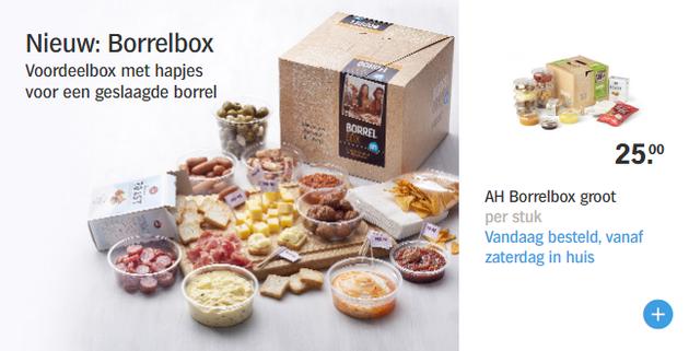 borrelbox albert heijn