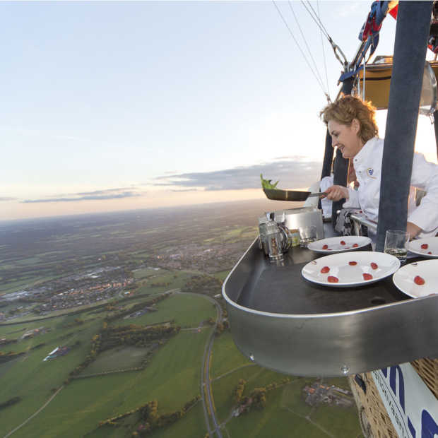 CuliAir: 's werelds enige luchtballon restaurant gaat weer open