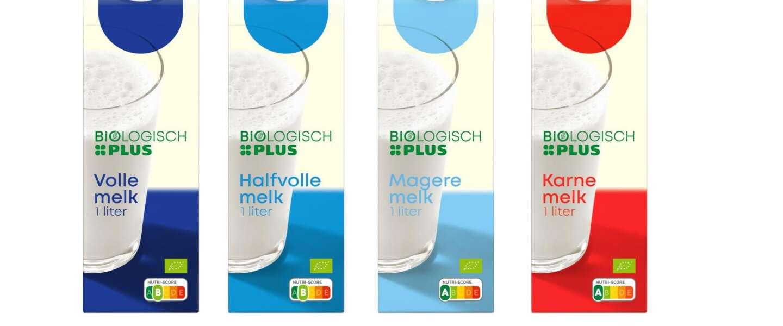 Bij Plus wordt de verse melk van het huismerk ingeruild voor biologische melk