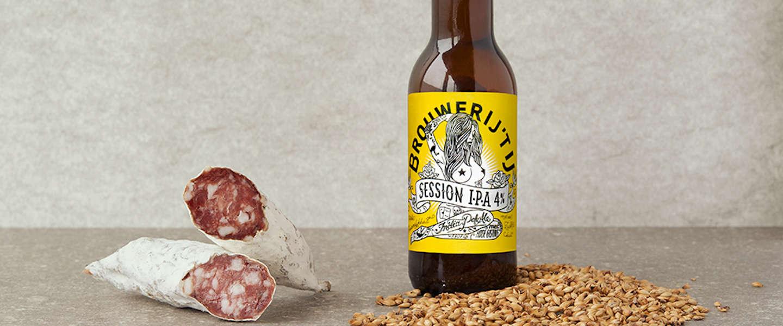 Brouwerij 't IJ en Brandt & Levie hebben een bierworst gemaakt