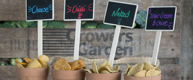 Chips van voor retail afgekeurde broccoli