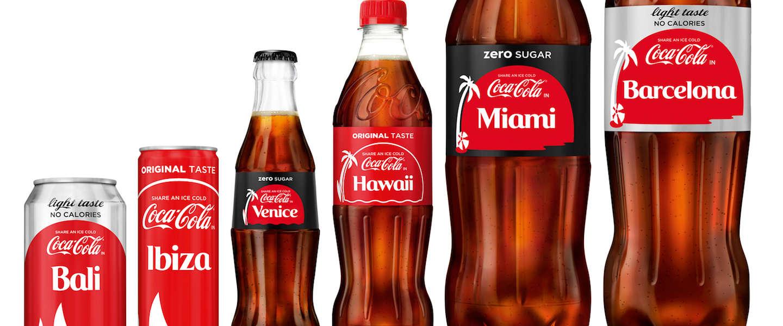 Coca-Cola vervangt logo op flessen door ruim 70 vakantiebestemmingen