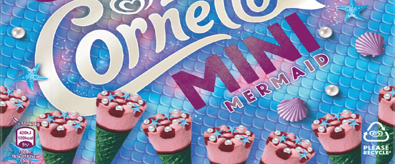 Cornetto komt met een nieuwe variant:  Cornetto Mermaid