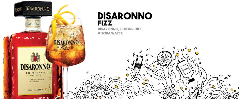 Internationale Disaronno Day: zo maak je zelf een Disaronno Fizz cocktail