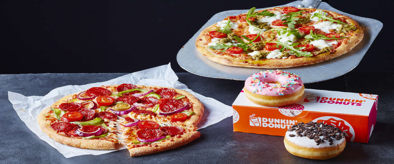 Donuts en pizza! Dunkin' en New York Pizza werken samen