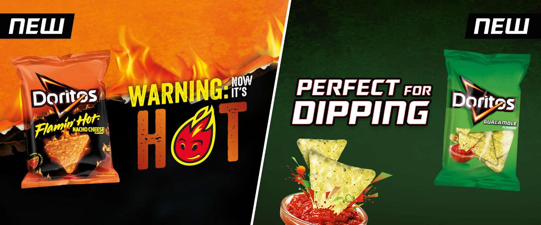 Er zijn twee nieuwe smaken Doritos op de markt