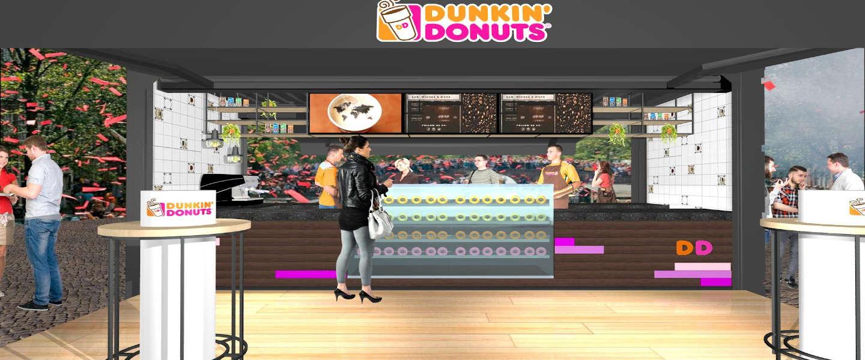 Pop-up store Dunkin' Donuts in Zoetermeer
