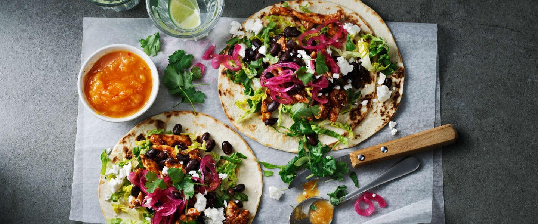 Heerlijk Tex-Mex: gevulde taco's met kip en een verrassende guacamole