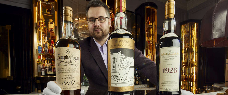 Grootste privé-whiskycollectie ooit wordt geveild