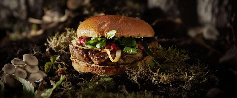 Blended Burger en Worst van Gro gemaakt van vlees en oesterzwammen