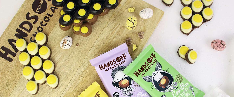 Paaseirepen en thuisblijf-pakket van Hands Off My Chocolate