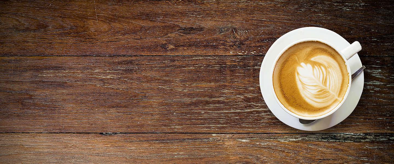 Groentes in de koffie