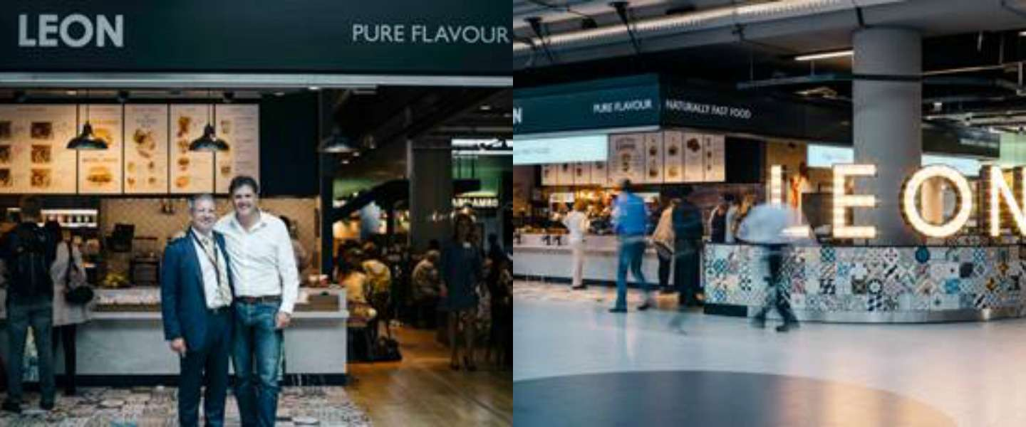Naturally fast food keten LEON geopend op Schiphol