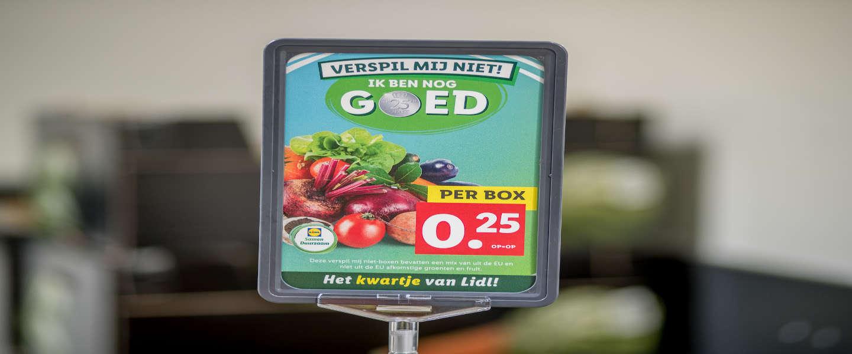 Op laatste houdbaarheidsdag verkoopt Lidl producten voor 25 cent