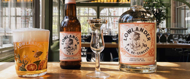 De bierbrouwers van Lowlander geven bier uit horeca tweede leven als I.P.A jenever
