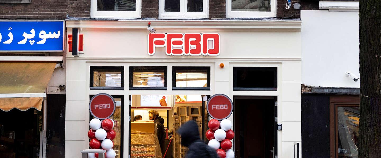 Nieuwe Febo in Amsterdam heeft 'infinity' snackmuur