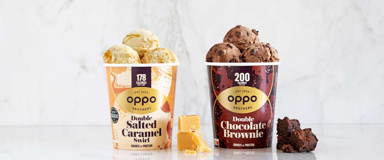 Nieuwe ijssmaken Oppo bevatten 60% minder calorieën en suiker