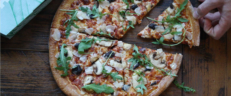 Vegan pizza's verkrijgbaar op Lowlands