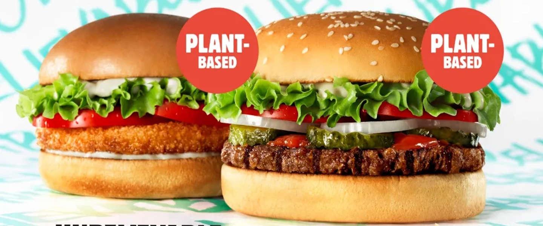 Vegetarische Slager levert plantaardige burgers aan Burger King