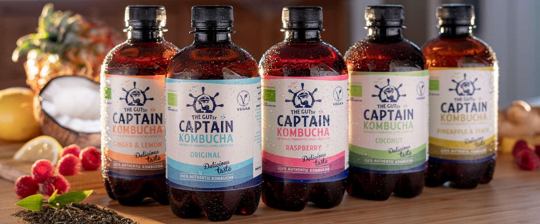 The Gutsy Captain brengt suikervrije kombucha op de markt