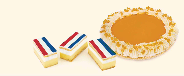 Bevrijdingsdag bij Hema: Tompoucevlaai en tompoucen met Nederlandse vlag