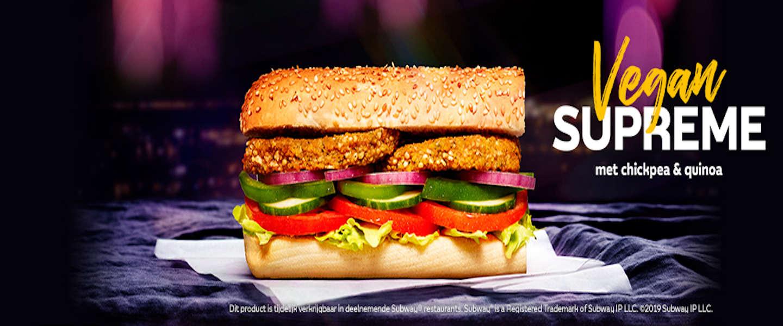De Vegan Supreme bij Subway is een heerlijk plantaardig broodje