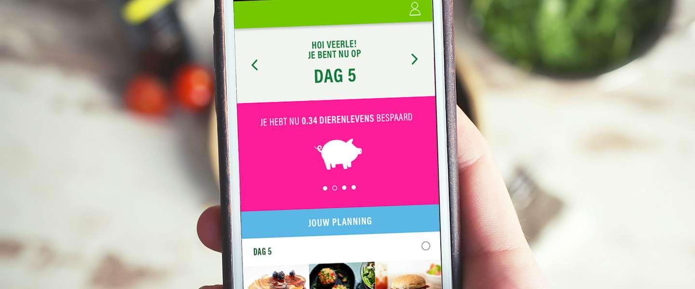 Nieuwe app die helpt om minder vlees te eten