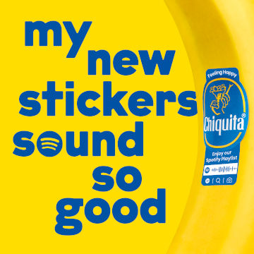 Chiquita x Spotify -sticker