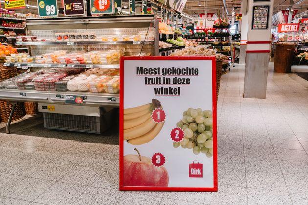 Dirk van den Broek nudges groente en fruit