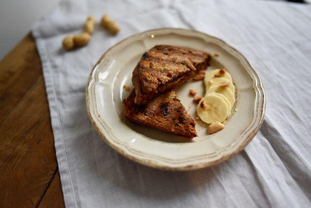 glutenvrije-sandwich-banaan
