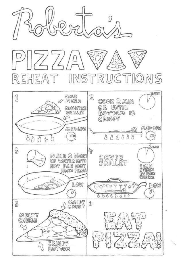 Instructies opwarmen leftover pizza