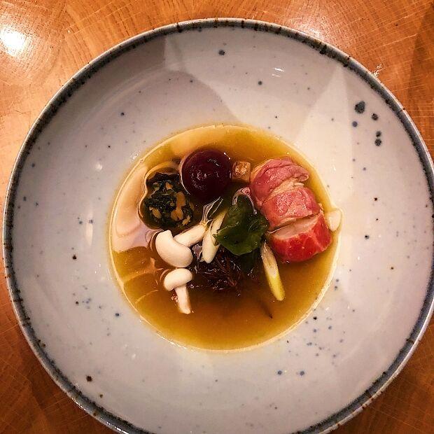 Langoustine en Wagyu - chef Rui Paula