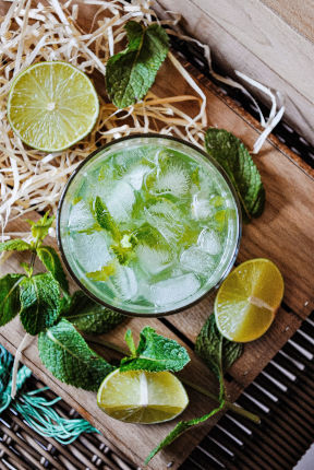 Mojito - cocktail - bovenaanzicht