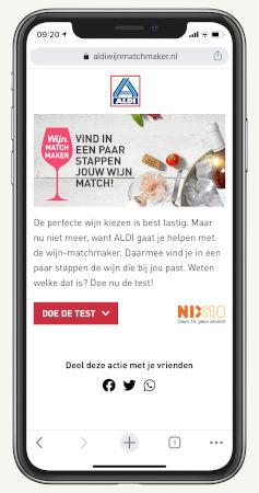 Wijnmatchmaker Aldi app_