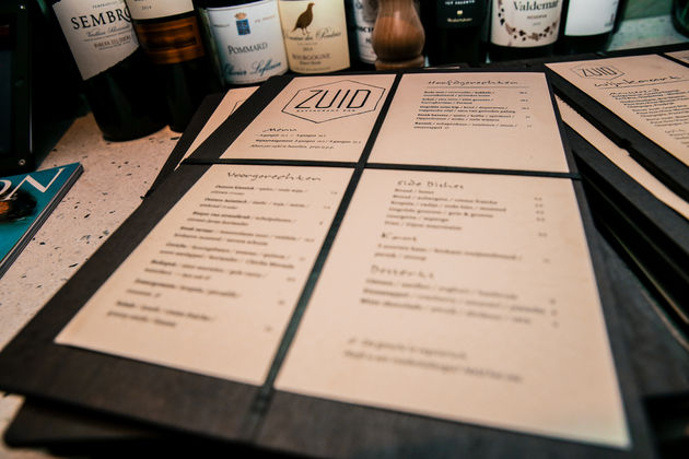 zuid-menu