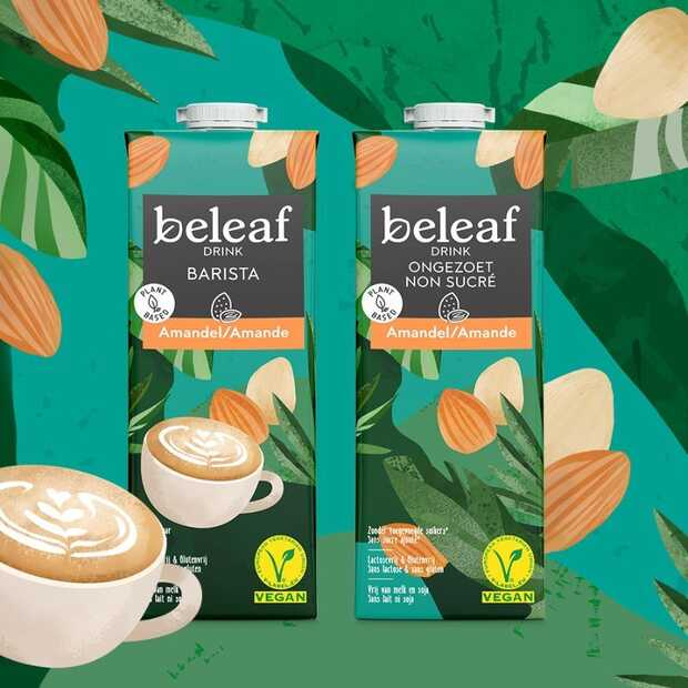 Beleaf heeft antwoord op tekort aan havermelk: plantaardige amandeldranken