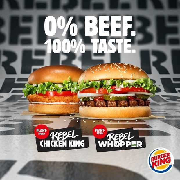 Plantaardige burgers Burger King komen naar Europa