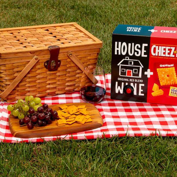 Kaassnack + rode wijn combinatie tijdelijk verkrijgbaar in VS