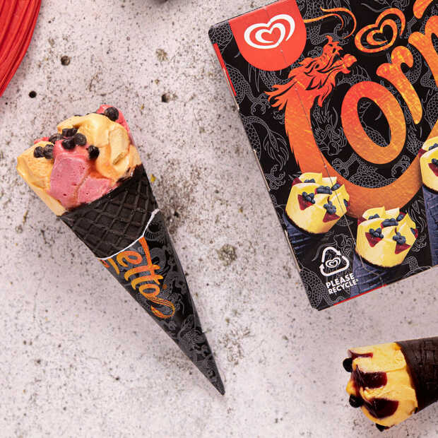 Ola introduceert nieuw limited edition ijsje: de Cornetto Dragon