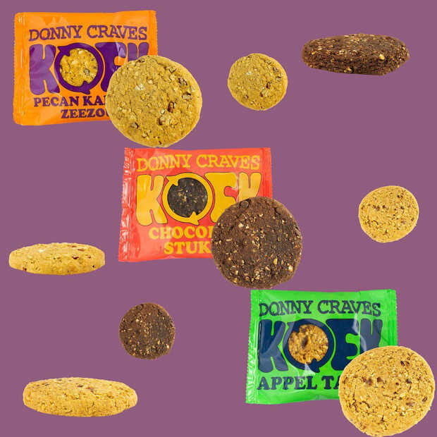 Donny Craves heeft 3 nieuwe smaken plantaardige American Cookies