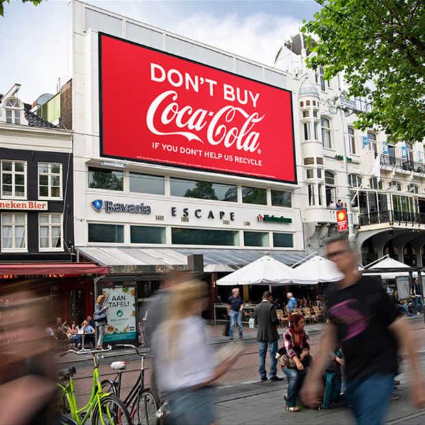 Geen Coca-Cola als je niet recyclet