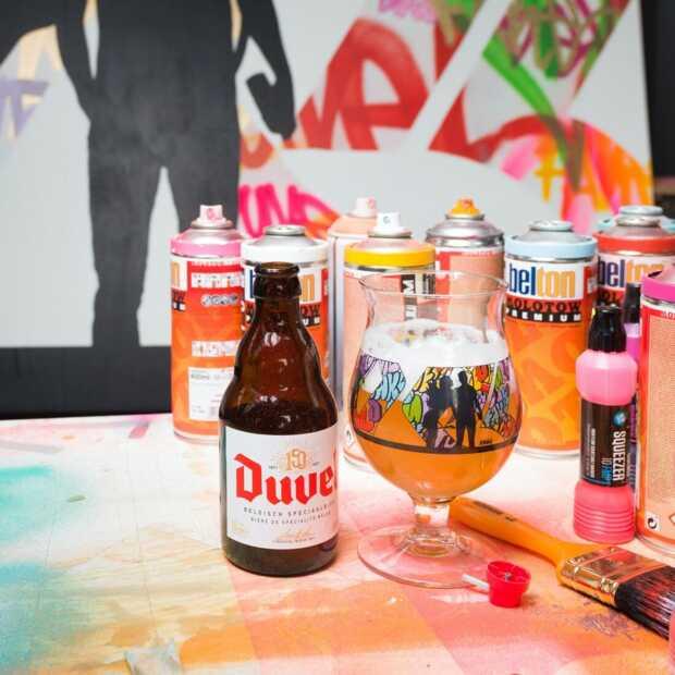 Straatkunstenaar Fake ontwerpt nieuw limited edition bierglas van Duvel