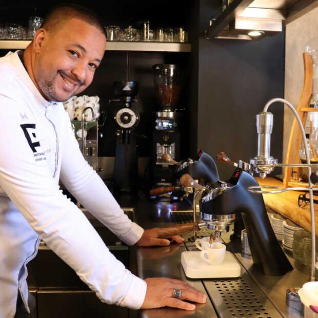 Zeldzaam kopje koffie te drinken bij restaurants François Geurds in Rotterdam