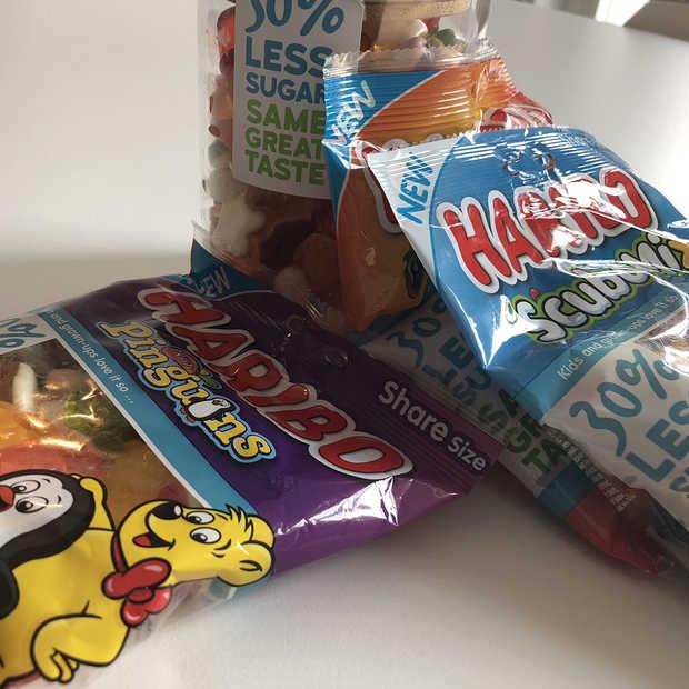 Bewuster snoepen; Haribo snoep nu ook met 30% minder suiker