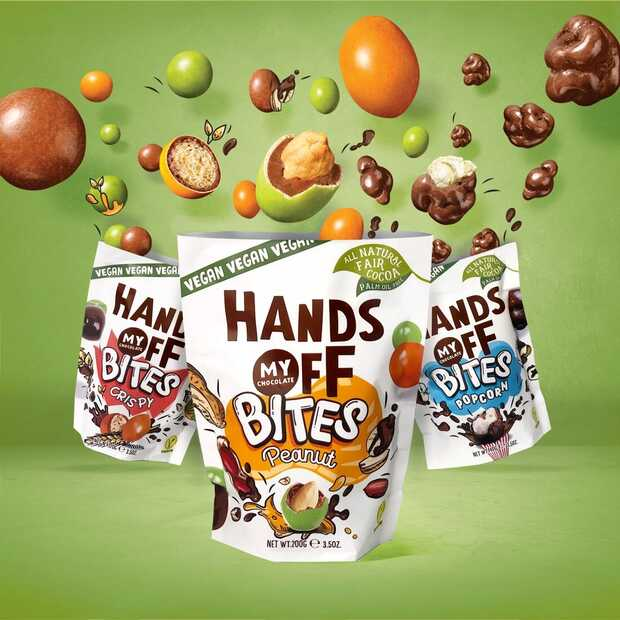 Hands Off My Chocolate brengt nieuwe producten op de markt: vegan Bites