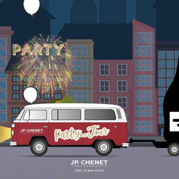 Frans wijnmerk JP. Chenet is jarig en geeft feestjes weg