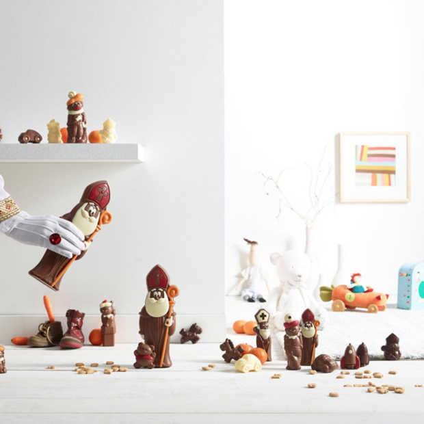 Belgische chocolade voor Sinterklaas bij Albert Heijn in de schappen
