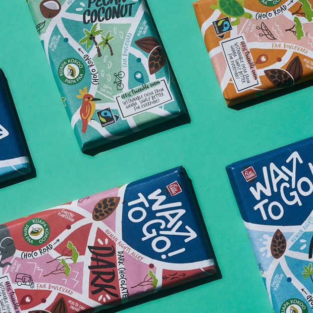Lidl introduceert duurzame chocoladerepen